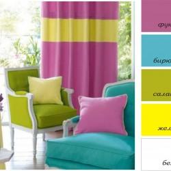 стиль и цвет в дизайне штор
