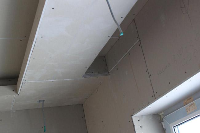 Ниша из гипсокартона на потолке видео